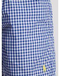 Polo Ralph Lauren - Blue Gingham Swim Shorts for Men - Lyst