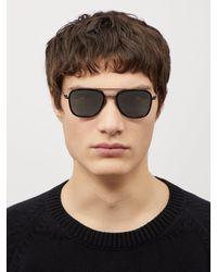 Lunettes de soleil aviateur en métal effet miroir Thom Browne pour homme en coloris Black