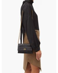 Balenciaga シャープ Xs レザークラッチバッグ Black