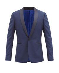メンズ Paul Smith ソーホーフィット ウールモヘアツイル タキシードスーツ Blue