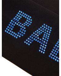 Balenciaga - Black Crystal-embellished Tights - Lyst