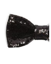 Saint Laurent Black Sequin-embellished Bow Tie for men