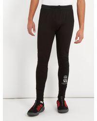Y-3 Black Skinny-fit Cotton-blend Track Pants for men