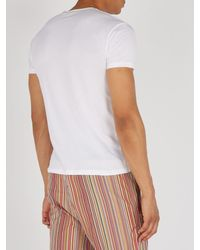 Paul Smith White Cotton Jersey T Shirt for men
