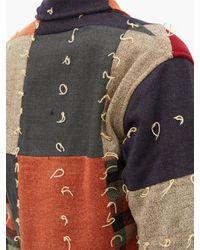 Bode パッチワーク ウールシングルジャケット Multicolor