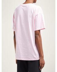 T-shirt en coton à imprimé graphique Toyah Raf Simons en coloris Pink