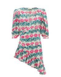Adriana Degreas フローレ シルククレープドレス Multicolor