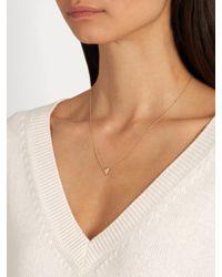 Azlee - Metallic Cosmic Diamond & Yellow-gold Necklace - Lyst