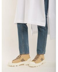 Acne Natural Dinila Track-sole Ankle Boots