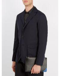 Prada - Black Contrast Corner Leather Pouch for Men - Lyst