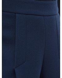Pantalon ample en crêpe de laine Pacifica Emilia Wickstead en coloris Blue