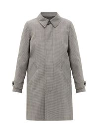 A.P.C. Gray Dinard Houndstooth-checked Twill Coat