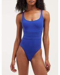 Eres Blue Duni Ribbed Swimsuit