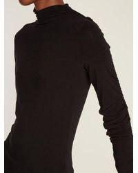 Preen Line Black Georgia Ruffled-sleeves Top