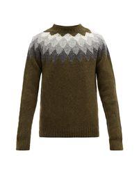 Pull en laine à maille Bohus Officine Generale pour homme en coloris Multicolor