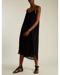 Velvet By Graham & Spencer - Black Lilac Scoop-neck Cotton-gauze Dress - Lyst