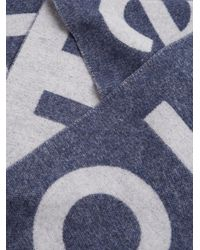 Acne - Blue Toronto Logo-intarsia Wool-blend Scarf - Lyst