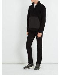 A.P.C. Black Summit Half-zip Wool-blend Sweatshirt for men