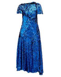 Preen By Thornton Bregazzi Mia スパンコール ギャザードレス Blue