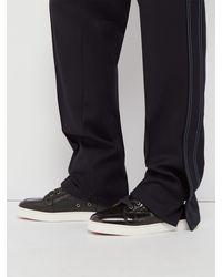 Baskets montantes en cuir effet crocodile Rantus Christian Louboutin pour homme en coloris Black