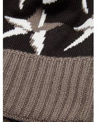 Perfect Moment Black Star Wool-blend Beanie Hat for men