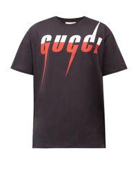 メンズ Gucci ブレードプリント コットンtシャツ Multicolor