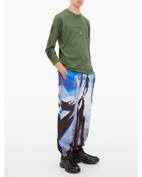 メンズ Undercover イヤープリントスリーブ コットンtシャツ Green