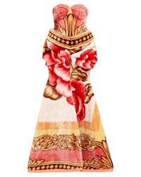 MARINE SERRE フローラルプリント フリースドレス Multicolor
