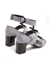 Fabrizio Viti Blue City Bow Suede Sandals
