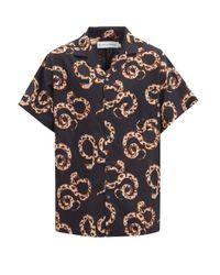 メンズ Desmond & Dempsey ザ カー スネーク コットンパジャマシャツ Multicolor