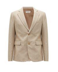 Éditions MR Natural Zephyr Single-breasted Linen-blend Jacket for men