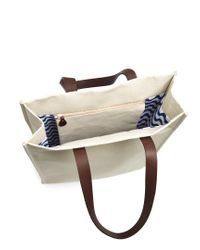 Frescobol Carioca - Natural Leather-handle Linen-canvas Tote for Men - Lyst