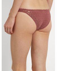 She Made Me - Pink Essential Cheeky Crochet Bikini Briefs - Lyst