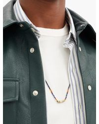 Collier en or 14 carats, diamant et lapis-lazuli Luis Morais pour homme en coloris Blue