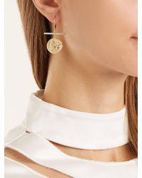 Azlee - Metallic Animal Kingdom Diamond & Yellow-gold Earrings - Lyst