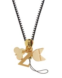 Chaos - Metallic Z Gold-plated Charm - Lyst