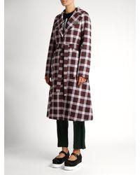 Christopher Kane Multicolor A-line Gingham Wool-blend Coat