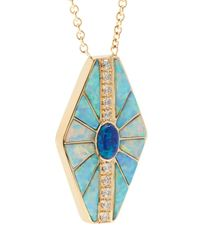 Jacquie Aiche | Blue Diamond, Opal & Yellow-gold Necklace | Lyst