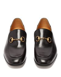 Gucci Black Mister New Horsebit Leather Loafers for men
