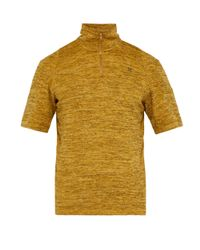 GmbH Yellow Saim Quarter-zip Top for men
