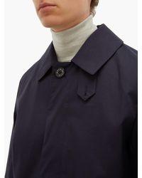 Trench-coat en gabardine de coton caoutchouté Mackintosh pour homme en coloris Blue