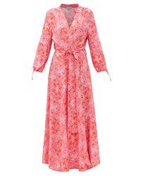 Melissa Odabash ギャビー フローラル ポプリンラップドレス Red