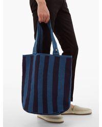 メンズ Guanabana Liam ストライプウーブンス トートバッグ Blue