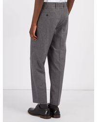 The Gigi Gray Wool-blend Flannel Trousers for men