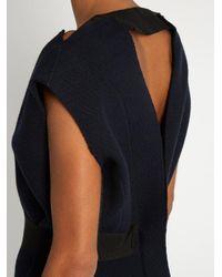 Maison Rabih Kayrouz - Blue V-neck Wool-felt Midi Dress - Lyst