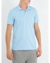 Orlebar Brown Blue Felix Cotton-waffle Polo Shirt for men