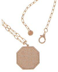 SHAY ダイヤモンド 18kローズゴールドネックレス Metallic