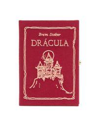Olympia Le-Tan Red Mini Dracula Canvas Clutch Bag
