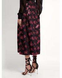 The Vampire's Wife Black Bell Floral Fil-coupé Midi Skirt