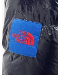 メンズ The North Face ヘリテージ リップストップ フーデッドダウンジャケット Blue